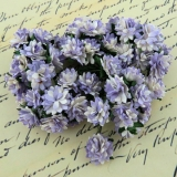 2-Tone Violet Aster Daisy Stem Flower 15mm - 5 ks