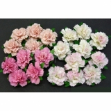 Mixed Pink Carnation Flowers 2,5 cm - 4 ks