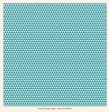Triangle/Teals 12x12""