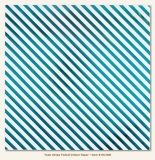 Stripe/Teals Vellum Sheet 12x12""