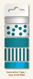 Washi tape Teals - 4 ks
