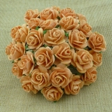 Peach Open Roses 25mm - 5 ks