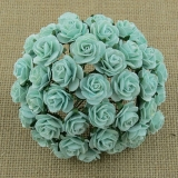 Pastel Green Open Roses 25mm - 5 ks
