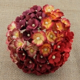 Mixed Red Sweetheart Blossom Flowers 15mm - 10 ks
