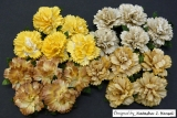 Mixed Earth Tone Carnation Flowers 25mm - 4 ks
