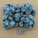 Baby Blue Aster Daisy Stem Flower 15mm - 5 ks