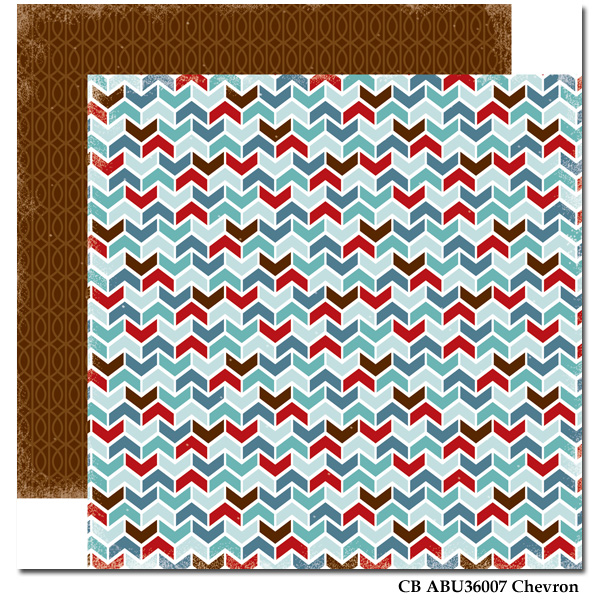 Chevron/All Bundled Up 12x12""
