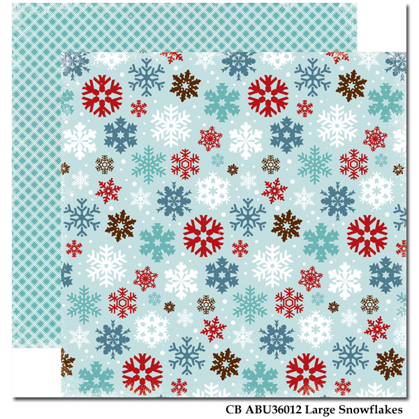 Large Snowflakes/All Bundled Up 12x12""