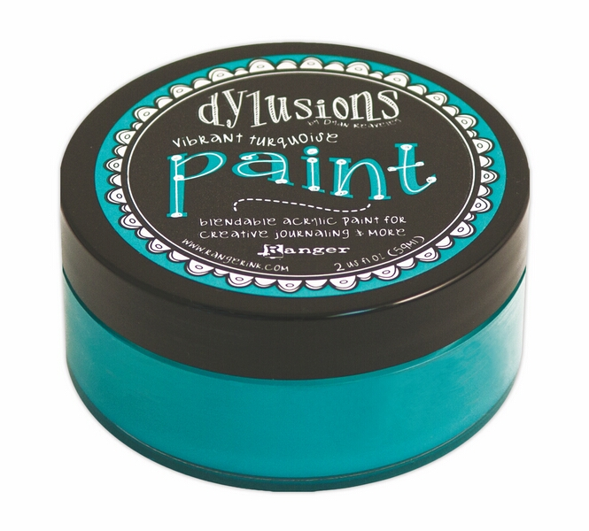 Dylusions Paint - Vibrant Turquoise