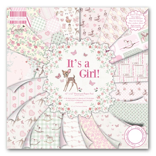 "First Edition/It´s a girl 12x12"" - 16 ks"