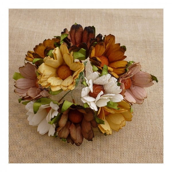 Chrysanthemum Earth Tone 4,5 cm - 5 ks