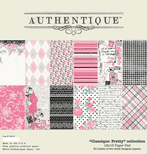 "Classique:Pretty collection 12x12"" - sada 12 listů"