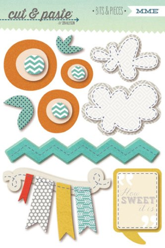 "3D samolepky Flair ""Forever"" Bits&Pieces/Cute&Paste - 7 ks"
