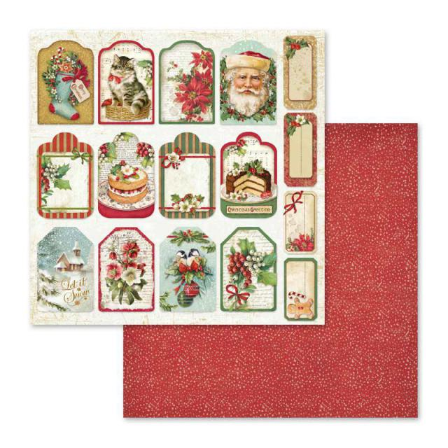 Tags and Labels/Christmas Vintage  12x12""