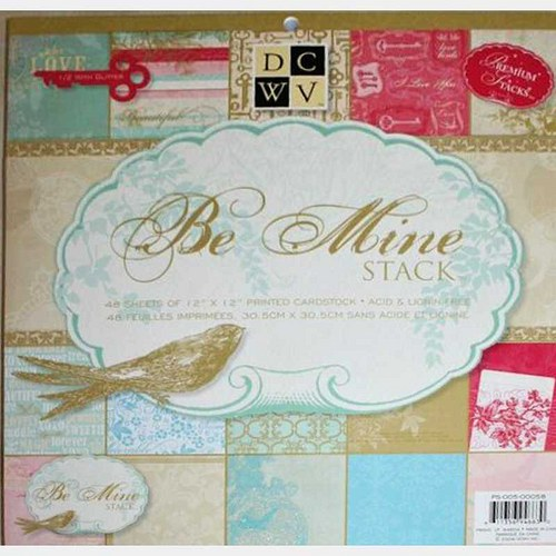 "Be Mine 12x12x""- sada 24 listů"