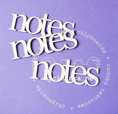 "Nápis ""notes"" - 3 ks"