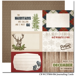 4x6 Journaling Cards/Warm&Cozy 12x12""