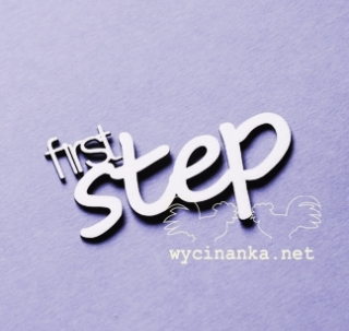 "Nápis ""first step"" - 1 ks"