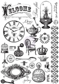 Cling Mounted Stamps - 28 ks