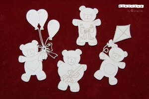 Party Teddies/Babyland -  4 ks