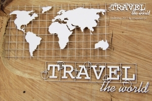 Mapa a nápisy/Travel the World - 2 ks