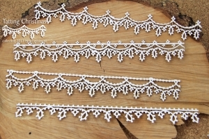 Bordury XL/Tatting christmas - 4 ks
