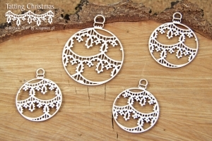 Baňky malé/Tatting christmas - 4 ks