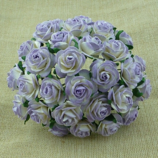 2-tone Lilac Open Roses 20mm - 5 ks