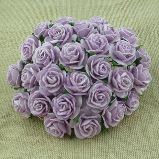 Lilac Open Roses 25mm - 5 ks