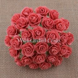 Coral Open Roses 25mm - 5 ks