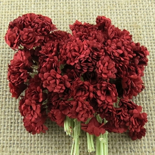 Deep Red Gypsophila Flowers 10mm - 10 ks