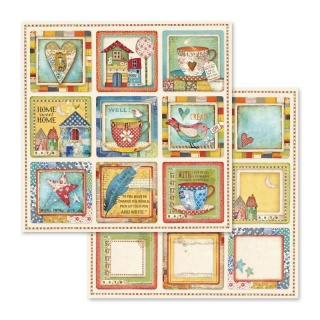 Cards Cups/Patchwork  12x12""