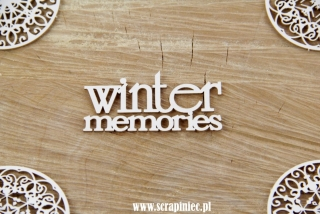 "Nápis ""Winter memories"" - 1 ks"