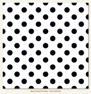 Dot/Black & Gray 12x12""